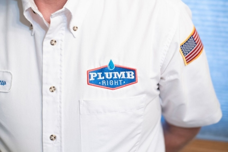 Plumb Right logo on uniform
